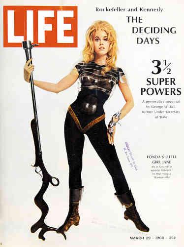 1968. Jane Fonda provocatrice en Barbarella.