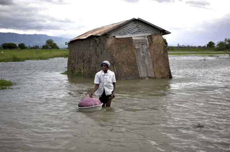 Passage de l'ouragan Hanna sur Haïti.