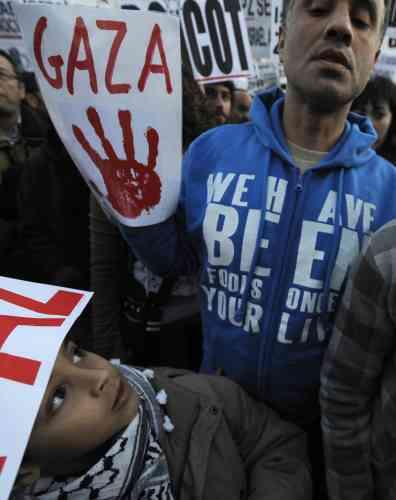 Espagne Nouvelles manifestations de soutien aux Palestiniens en Europe.