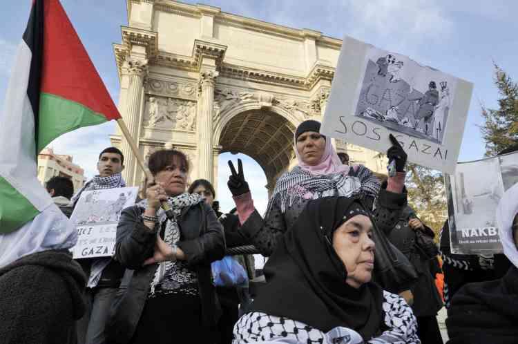 Marseille Nouvelles manifestations de soutien aux Palestiniens en Europe.