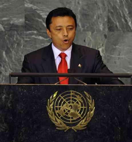 Marc Ravalomanana, le président de Madagascar.