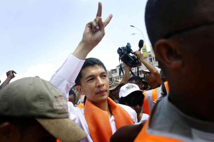 Le maire d'Antananarivo, Andry Rajoelina.