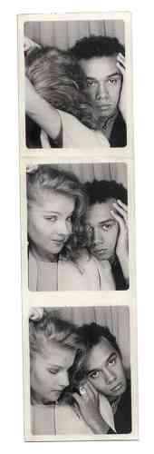 Ci-contre, séance de Photomaton avec Eva Ionesco, au début des années 1980.