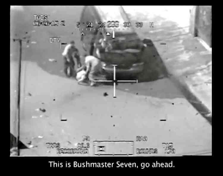 """DR           Avril 2010Diffusion d'une vidéo intitulée """" Collateral Murder """" montrant un hélicoptère américain  à Bagdad mitraillant des civils, dont  deux enfants et deux photographes de l'agence Reuters."""