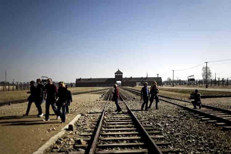 Warsaw 17.03.2012 Poland Teachers in the KL Auschwitz-Birkenau Photo: Adam Lach / Napo Images for Le Monde