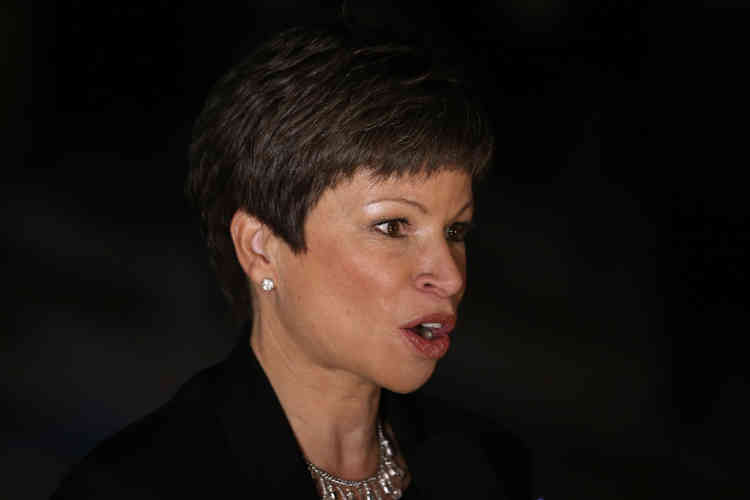 CHICAGO, IL - NOVEMBER 06: Valerie Jarrett, Senior Advisor to U.S. President Barack Obama attends the Obama Election Night watch party at McCormick Place November 6, 2012 in Chicago, Illinois. Obama is going for reelection against Republican candidate, former Massachusetts Governor Mitt Romney.   Scott Olson/Getty Images/AFP