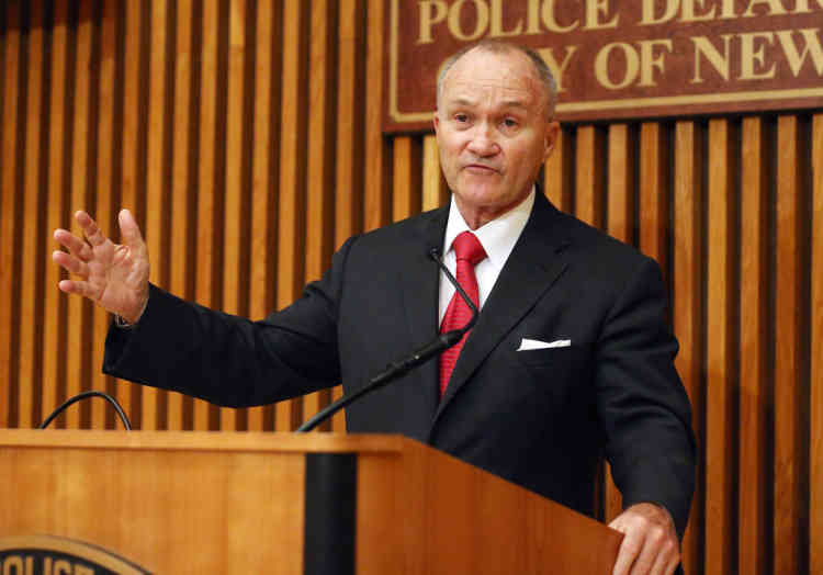 NEW YORK, NY - OCTOBER 26: New York City Police Commissioner Ray Kelly speaks at a news conference on October 26, 2012 in New York City. Kelly discussed the city's storm preparations and his impromptu bedside promotion this morning of Ivan Marcano, an off-duty officer who was shot this week while confronting two robbers.   Mario Tama/Getty Images/AFP