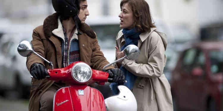 "Louis Garrel et Valeria Bruni Tedeschi dans le film français et italien de Valeria Bruni Tedeschi, ""Un château en Italie""."