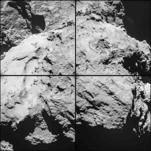 Cette mosaïque a été prise à 12,6 km du centre la comète.