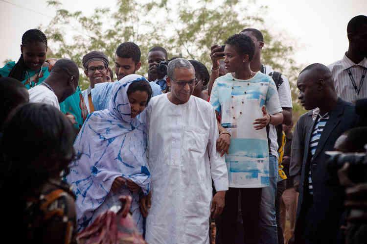 Abderrahmane Sissako, avant la projection de son film, «Timbuktu», le 5 mars.