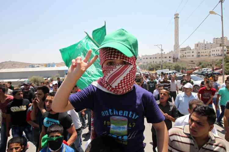 Des manifestations ont eu lieu à Hebron, dans le sud de la Cisjordanie.