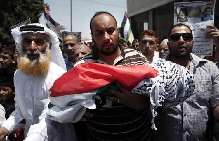 Les funérailles d'Ali Saad Dawabsha, à Douma.