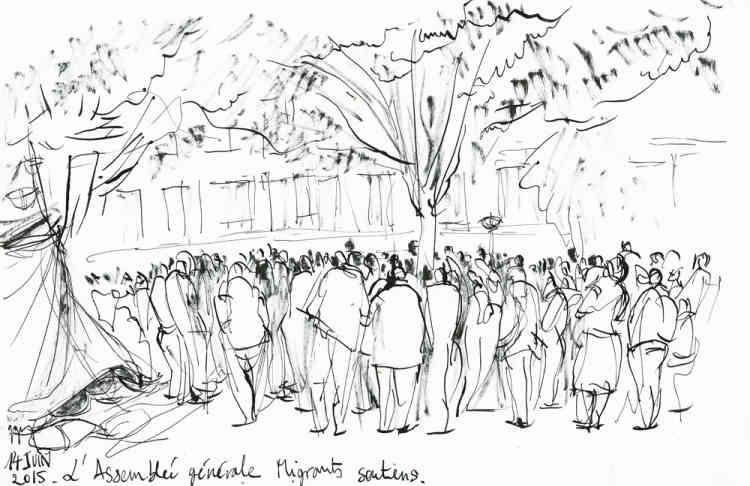 « 14 juin 2015. L'Assemblée générale. Migrants et soutiens. »