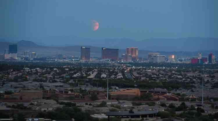 Au-dessus de Las Vegas.