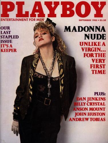 En septembre 1985, c'est Madonna qui pose pour le magazine.