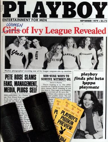 En septembre 1979, Playboy publie des images de jeunes étudiantes des prestigieuses universités de la Ivy League, s'attirant les foudres des organisations féministes.
