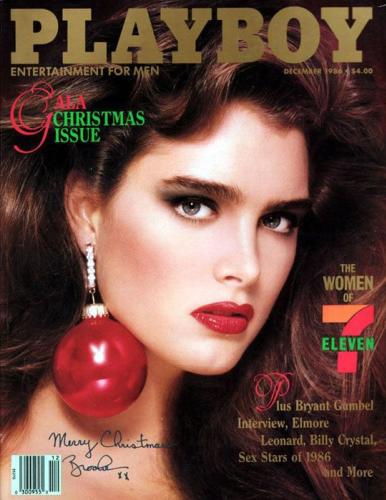 Brooke Shields, pour le numéro de décembre 1986.