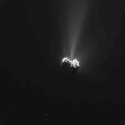 L'été 2015 a connu le moment où l'orbite de la comète 67P/Tchourioumov-Guérassimenko était la plus proche du Soleil (à 186 millions de kilomètres). Les dégazages et les émissions de poussières ont été à leur maximum, pour le plus grand bonheur des astronomes qui les ont recueillis grâce aux instruments de la sonde Rosetta – arrivée un an plus tôt au-dessus de cette comète. Leur surprise a été grande de voir d'importantes émissions d'oxygène. L'atterrisseur Philae, silencieux depuis le 9 juillet, est désormais passé dans l'ombre de la comète, sur laquelle il s'était posé en novembre 2014. Les espoirs de rétablir le contact sont infimes.