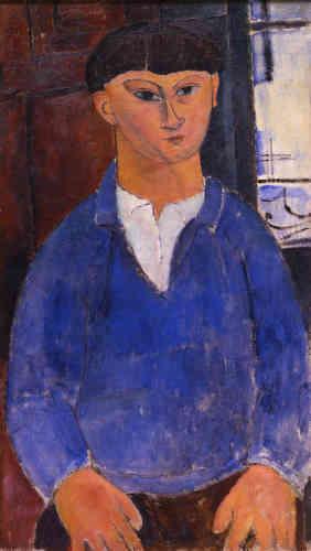 « Moïse Kisling est l'un des proches de Modigliani pendant la première guerre mondiale, à l'époque où les artistes et intellectuels de tous horizons, restés à Paris pendant le conflit, deviennent ses principaux modèles. »