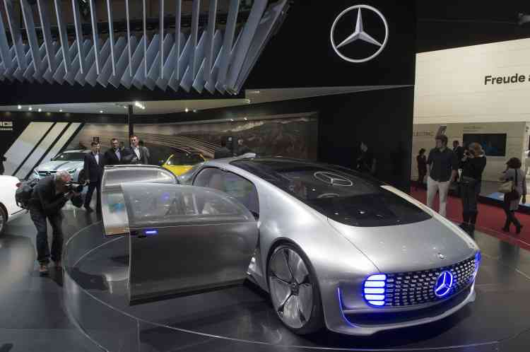 Côté concept-car, Mercedes a présenté un modèle très futuriste.