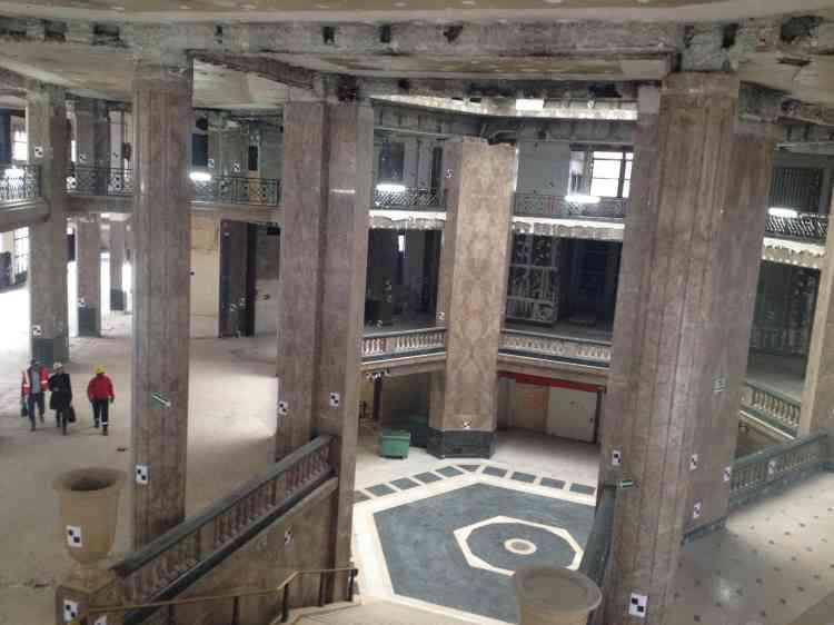 Les Galeries Lafayette occuperont 9 000 mètres carrés et quatre niveaux du bâtiment (du sous-sol au deuxième étage).