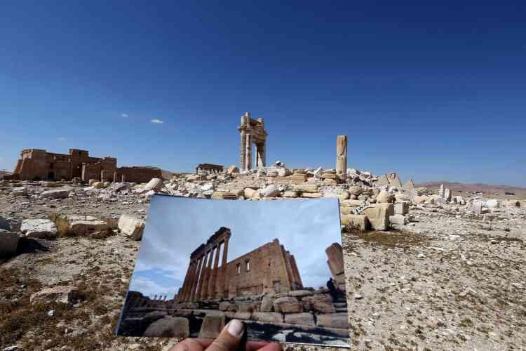 """""""Le temple de Bêl ne sera plus jamais comme avant. D'après nos experts, nous allons pouvoir certainement restaurer un tiers de la 'cella' détruite et peut-être plus après des études complémentaires avec l'Unesco. Cela prendra cinq ans de travail sur le terrain"""", a affirmé le directeur des antiquités syriennes, Maamoun Abdelkarim."""