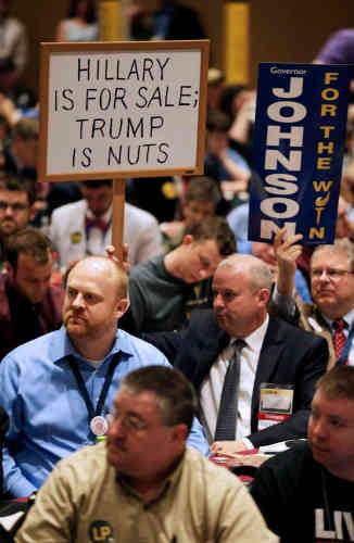 Gary Johnson aimerait récupérer les déçus du Parti républicain et les déçus du Parti démocrate.