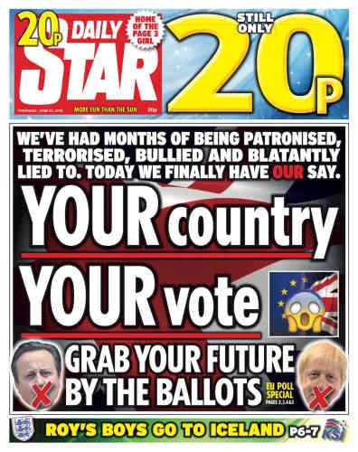 « Votre pays. Votre vote»Dans la tradition colorée des tabloïds, le quotidien «The Daily Star»invite ses lecteurs à voter avec un jeu de mots:« Saisissez votre futur par les urnes».