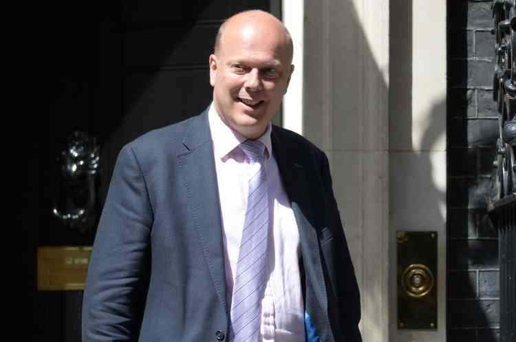 Chris Grayling a été nommé ministre des transports.