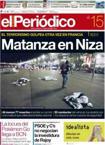 Le quotidien espagnol« El Periodico».