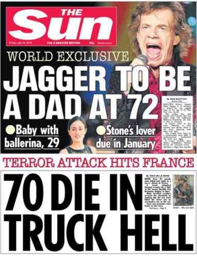 Le tabloïd britannique« The Sun».