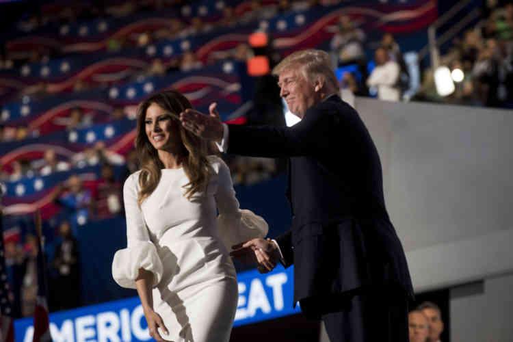 Melania Trump, l'épouse du magnat de l'immobilier,à la convention de Cleveland (Ohio), le 18 juillet.