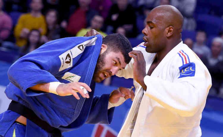 Voilà un judoka tout à fait intéressant et franchement élégant avec ses beaux mouvements d'épaule. Toutefois, l'Israélien Or Sasson paraît encore un peu frêle, avec son 1,93 m et son physique de lourd-léger, pour vaincre le colosse guadeloupéen. En finale des championnats d'Europe à Kazan en avril, il avait donné bien du fil à retordre à Riner en finale. Mais son physique avait montré ses limites.