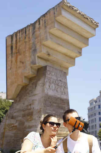 Un selfie Plaça Catalunya.