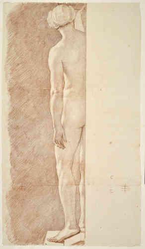 L'une des 32 études d'après le modèle vivant pour les sculptures des cariatides destinées à être placées aux quatre angles du piédestal de la statue équestre de Louis XV.