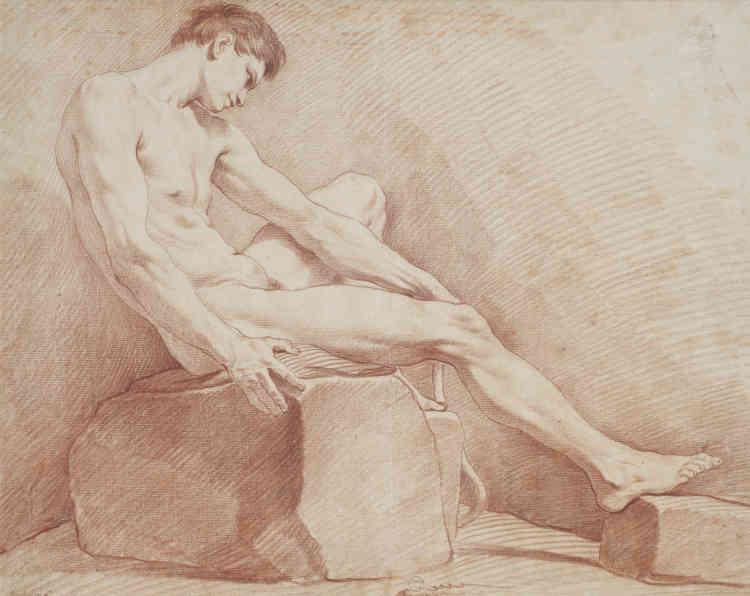Ce nu masculin, sans repentir possible puisque le traità la sanguine est définitif, illustre l'exceptionnelle virtuosité du dessinateur.