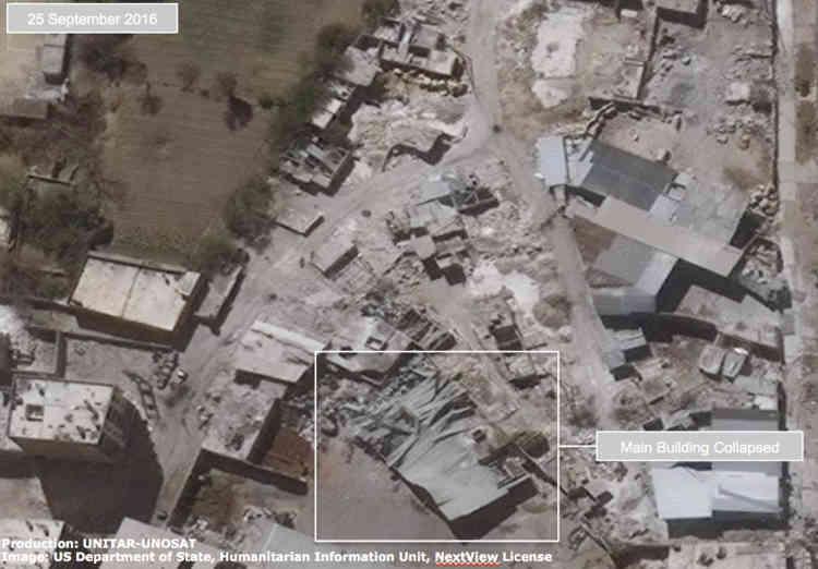 La zone industrielle du Karm AD, dans le district Da'Da' d'Alep, le 25 septembre. L'impasse diplomatique sur la Syrie et le gel du dialogue Moscou-Washington pour mettre fin à cette guerre alimentent le climat glacial depuis 2012 entre les deux anciens adversaires de la guerre froide.