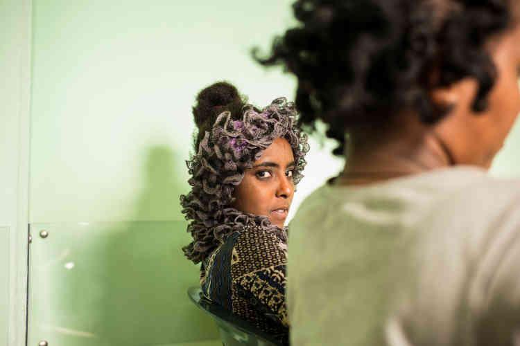 Une jeune Erythréenne tout juste arrivée à Catane, le1erseptembre.