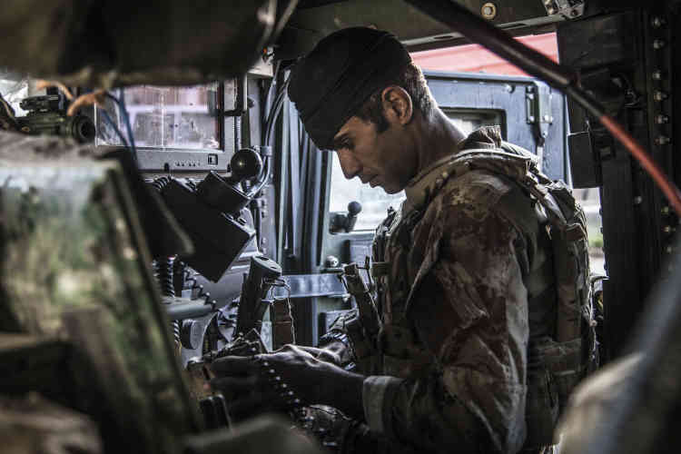 Mahmoud, le mitrailleur de l'Humvee numéro 2,le 29 octobre.