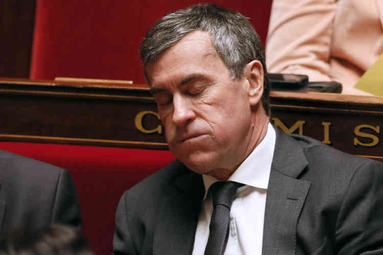 Le 19 mars 2013. Le ministre du budget, Jérôme Cahuzac, lors de la séance de questions au gouvernement à l'Assemblée nationale à Paris. La justice vient de rapporter disposer d'un enregistrement audio évoquant l'existence d'un compte bancaire suisse qu'il n'a pasdéclaré. Il démissionnera peu après.
