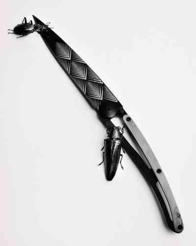 Couteau Art déco, 49,90 €, Deejo, chez Nature et Découvertes.