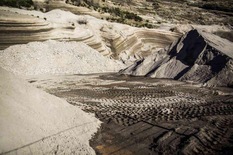 La carrière de sable de Molines. Commune de Borée.