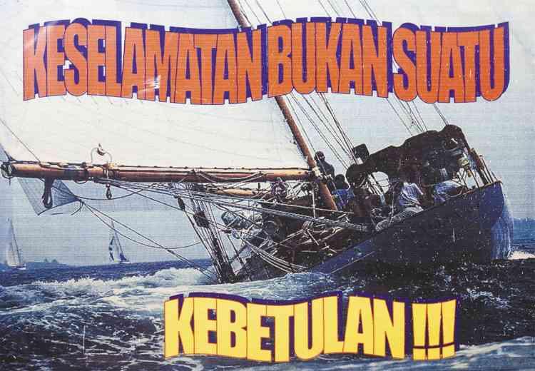 Une affiche des bureaux de recherche et de secours, à Bali. Son slogan : « La sécurité n'est pas une coïncidence ! »