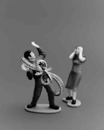 Bracelet Caprice, en or blanc, diamants et émeraudes, Dior Joaillerie.