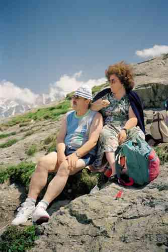 LeCol du Grand-Saint-Bernard, 1992. Frontière italo-suisse.