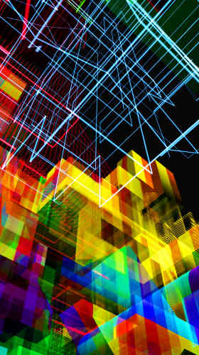 «Exploitant les logiques induites par l'ordinateur, telles que l'hybridation, la générativité, Michel Chevalier nous invite à observer les flux et les réseaux qui organisent nos sociétés contemporaines. Ses images suggèrent l'imaginaire de l'architecture, les villes virtuelles, et posent une réflexion sur la relation entre nature et artifice.»