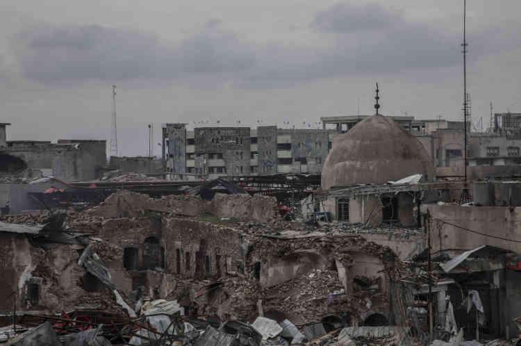 Le souk vu depuis la position d'un sniper de l'ERD.