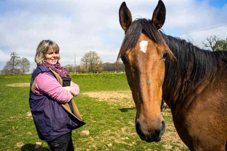 Anne-Laurence et son mari continuent aussi d'élever quelques chevaux de course, pour le plaisir.