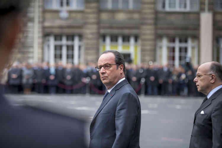 François Hollande a qualifié de«héros du quotidien»le policier de 37 ans,«un policier conscient de sa mission, un fonctionnairefierdeservirl'Etat, un citoyen engagé dans différentes causes»,«assassiné par un terroriste».