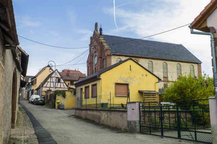 Vue de l'ancienne synagogue de Balbronn.